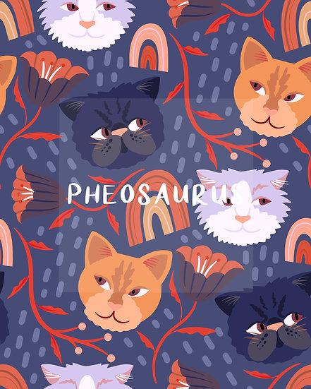 - Kitty Cat Blue -