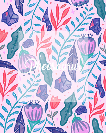 - Flowers & Jewels Pastel -