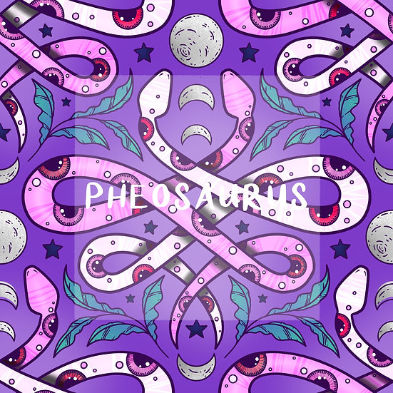 - All Seeing Snakes Purple -