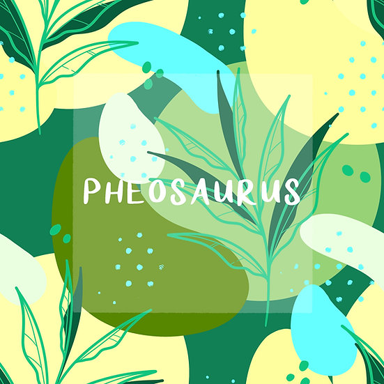 - Abstract Leaves Green -