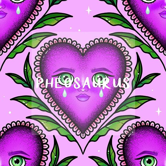 - Teary Heart Purple -