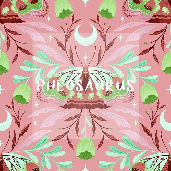 - Moths Again Pink -