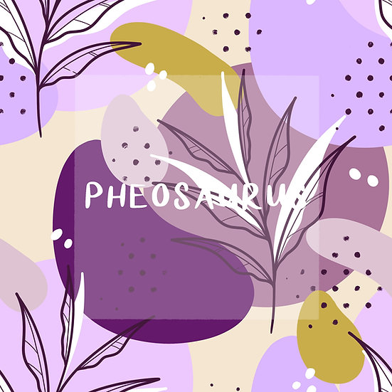 - Abstract Leaves Purple -