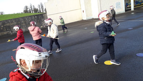 Hurling on the yard