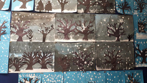 Some snowy art in the infants