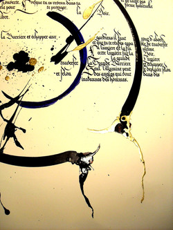 Cercle de bleu et d'or