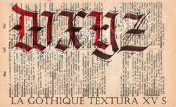 Gothique Textura du XVème Siècle
