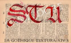 Gothique Textura du XIV ème Siècle