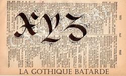 Gothique Bâtarde
