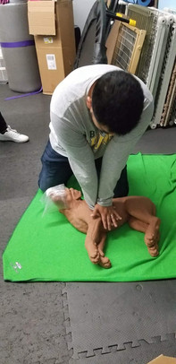 Joseph performs CPR