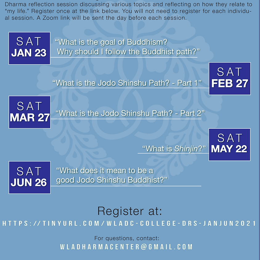 Monthly Dharma Gatherings: College Students