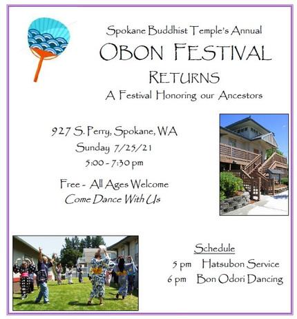 Spokane Buddhist Temple Obon poster
