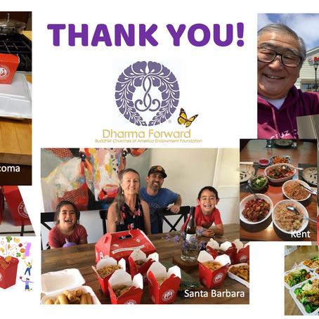 Dharma Forward Panda Express Fundraiser Success