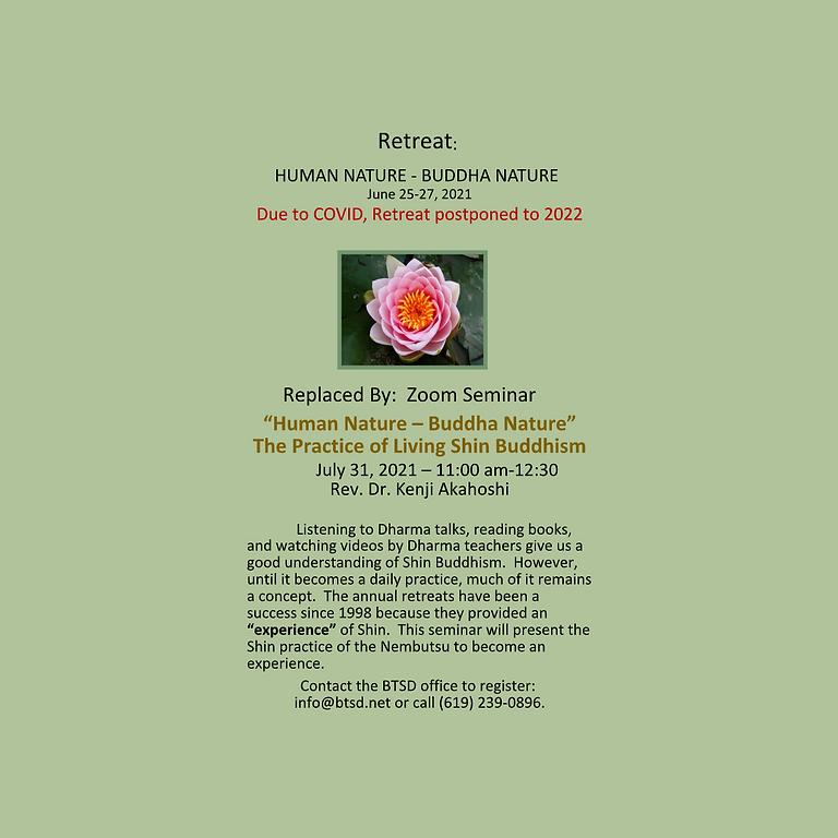 Human Nature within Buddha Nature Retreat