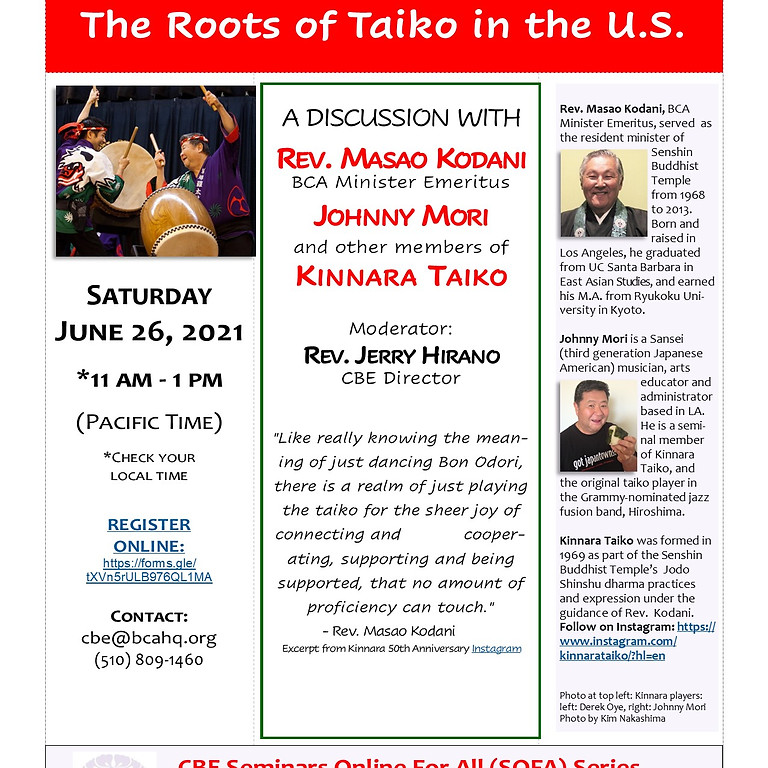Kinnara: The Roots of Taiko in the US