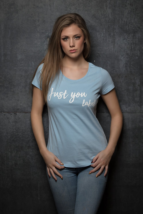 T-shirt 'Just you label' - Sky blue - Woman