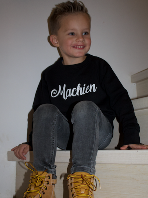 Sweater 'Machien' - Black - unisex kids