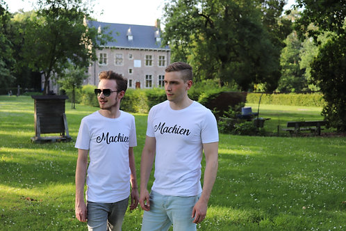 T-shirt 'Machien' - white