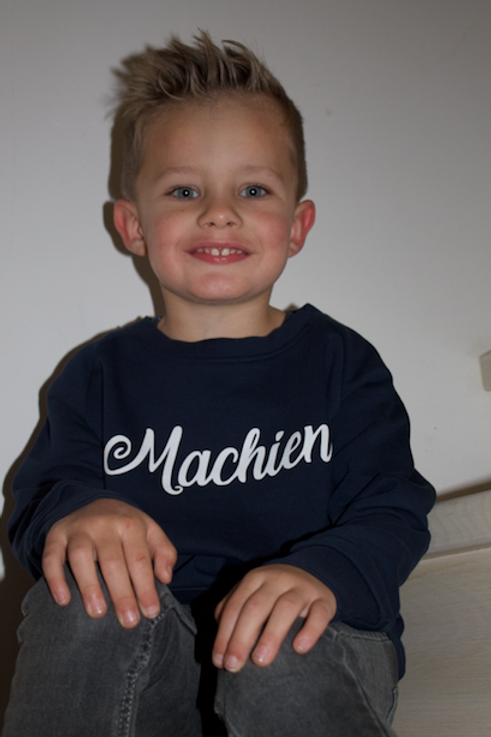 Sweater 'Machien' - Navy - unisex kids