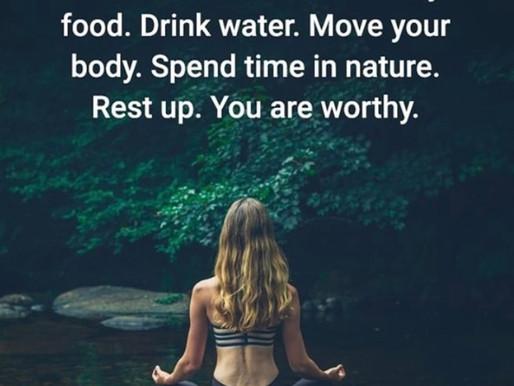 Self care is vital