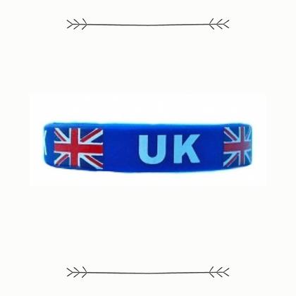 Union Jack Silicone Wristband
