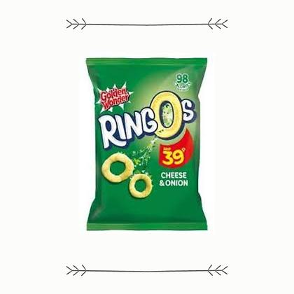Golden Wonder Ringos - Cheese & Onion - Grab Bag