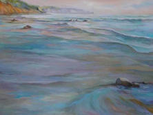 Mavillette Beach Looking South oil on canvas 30 x 40