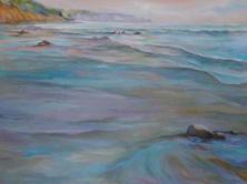 Mavillette Beach Looking South oil on canvas 30 x 40