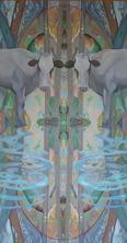 Patterns oil on panel 50.5 x 27