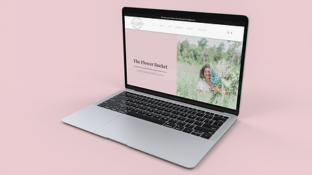 Mockup of The Flower Bucket website