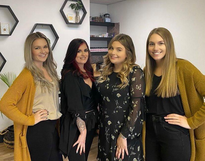 Milk & Honey Salon & Spa Team (left to right): Mikey Spinney, Alesha Comeau, Caitlin Weagle & Nadine Surette