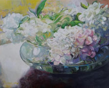 Hydrangea oil on canvas 16 x 20