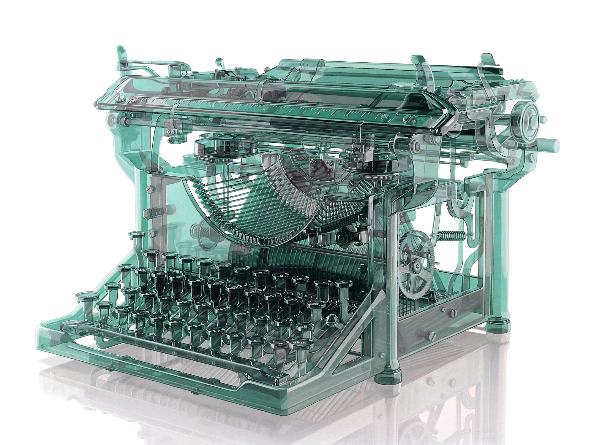 Antique Glass Typewriter