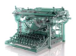 Antique Glass Typewriter