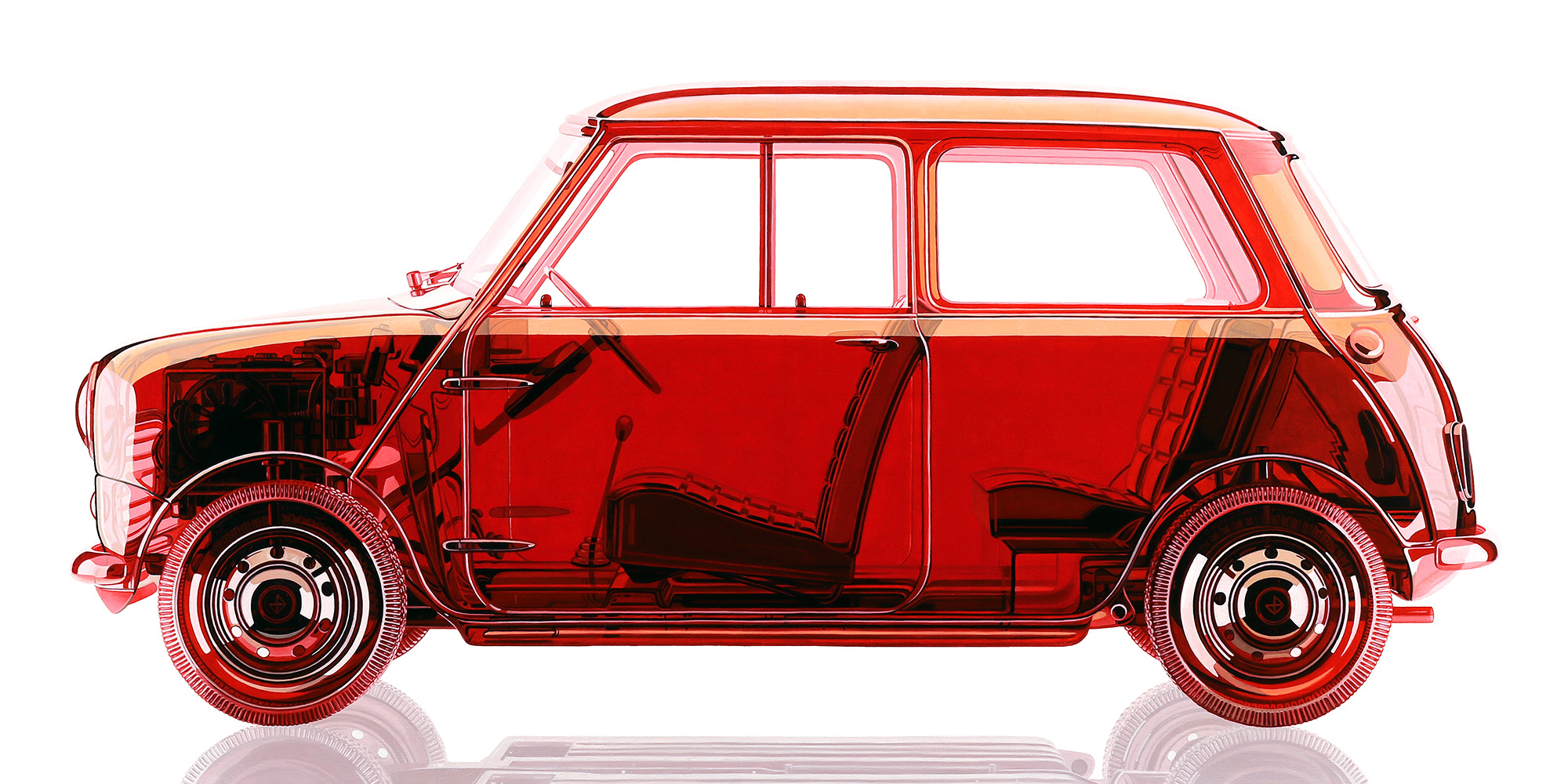 Clear Red Mini