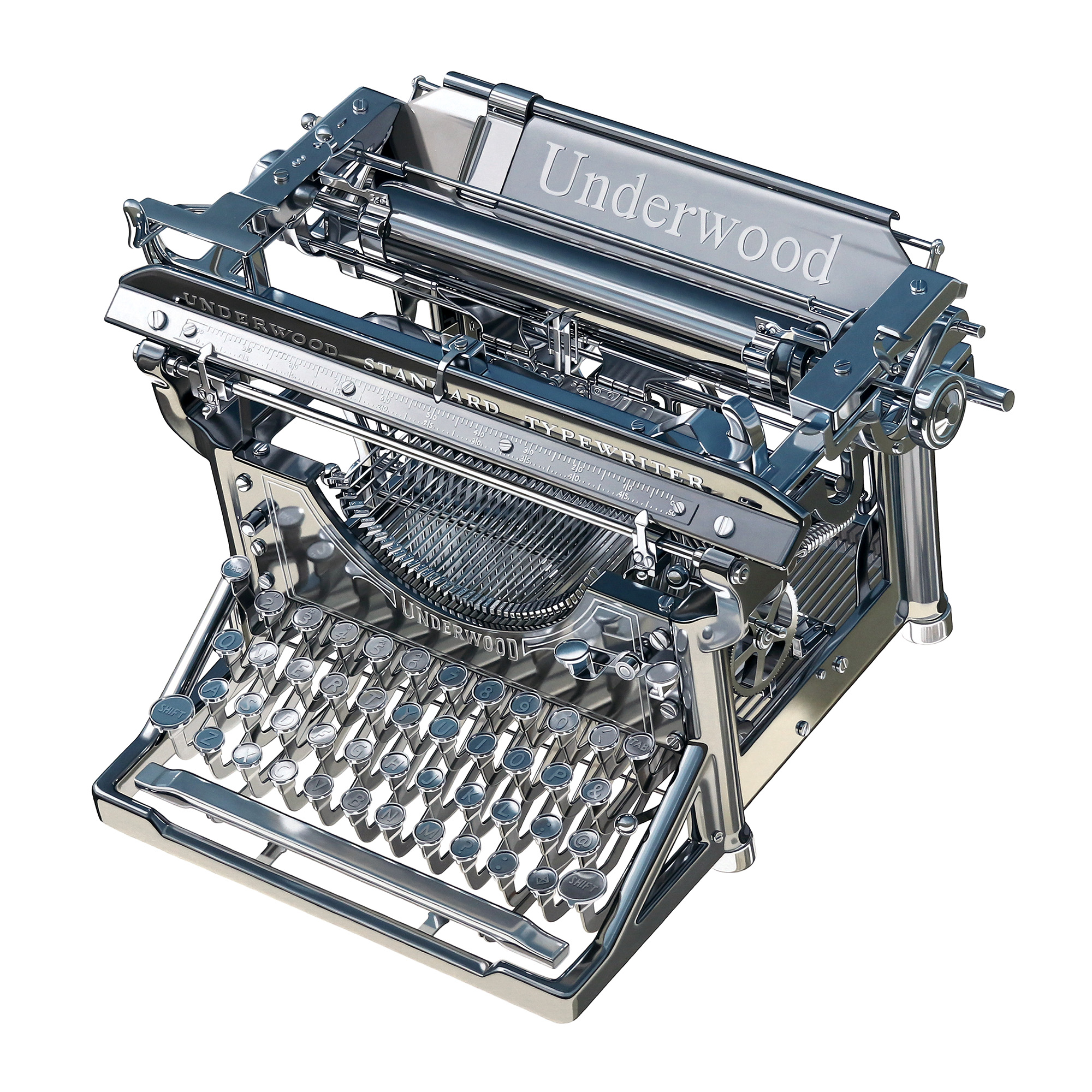 Steel Underwood Typewriter
