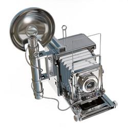 Steel Graflex Camera
