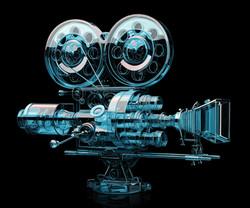 Glass Silent Movie Camera