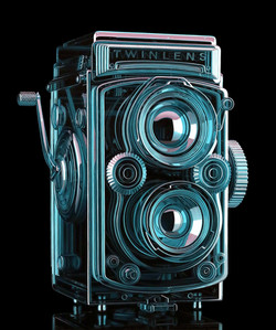 Glass Twin Lens Camera