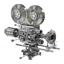 Metallic Silent Movie Camera