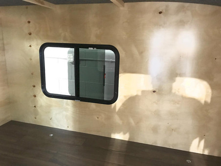 Travel Trailer Wood Grain Walls
