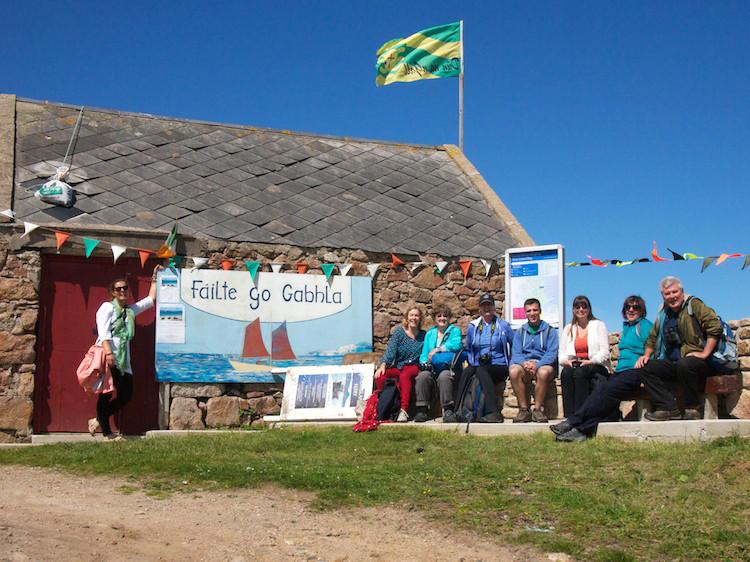 Boat trip to Irish islands, writers inspiration
