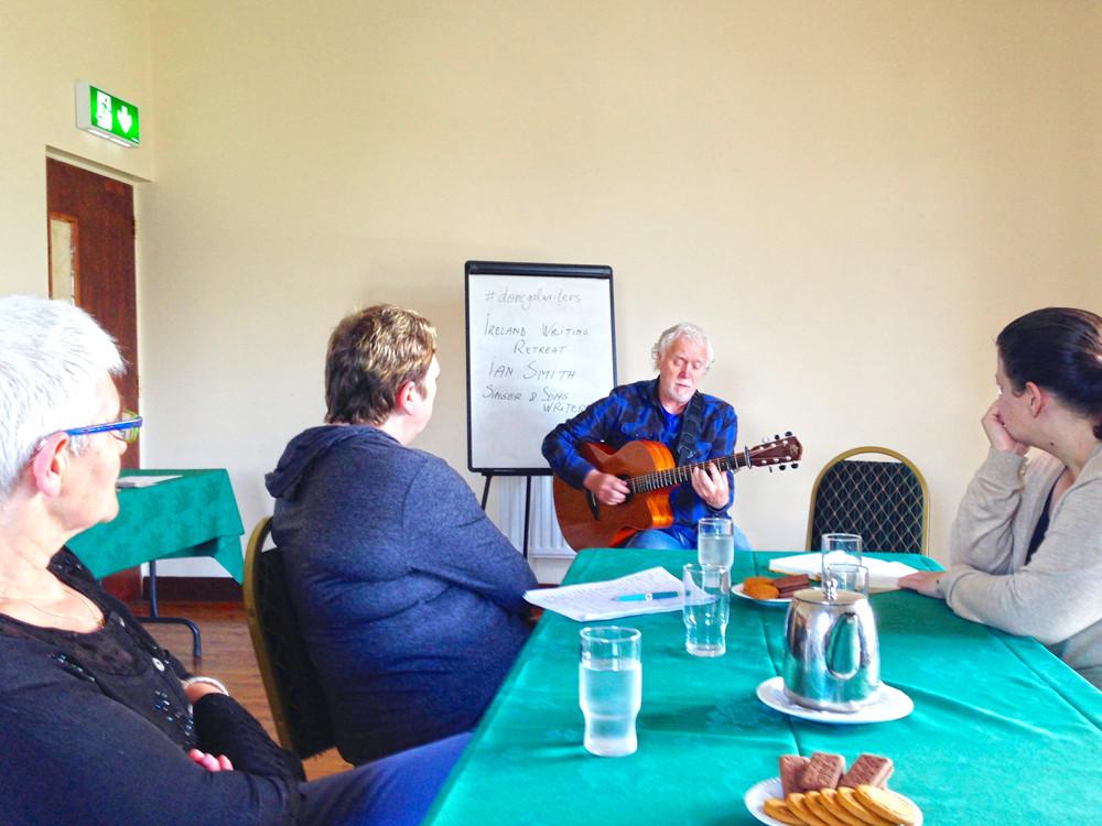 Ian Smith singer and song writer, Ireland writing retreat workshops