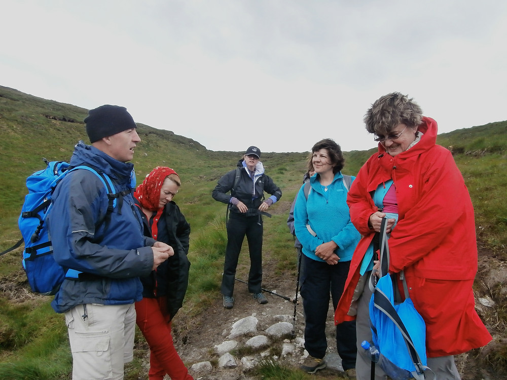 Guided walks in Donegal, mountain walks inspiring writers