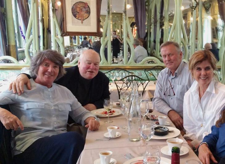 John Baxter and John Grisham, Paris Writing Retreat
