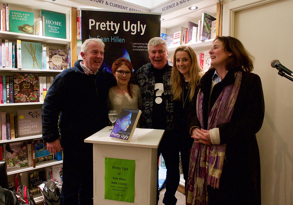 Sean Hillen and guests at book launch of Pretty Ugly