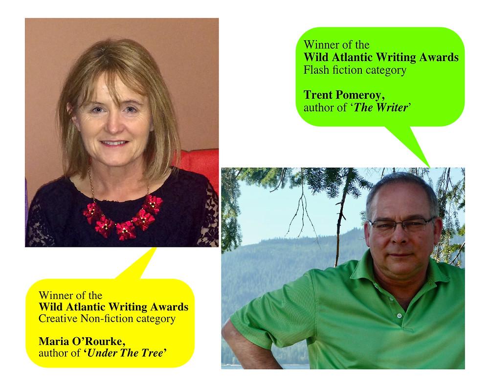 Winner of the Wild Atlantic Writing Awards, flash fiction awards, creative nonfiction awards
