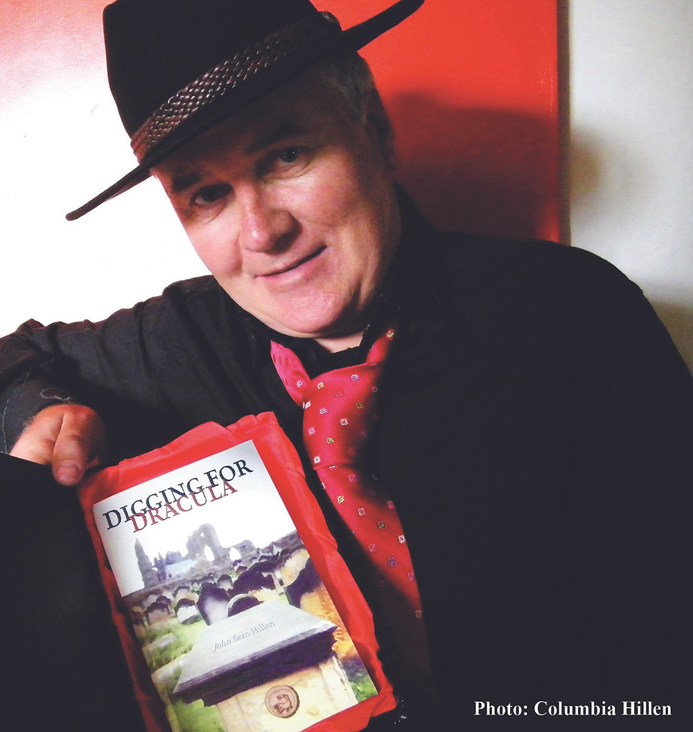 Sean Hillen writer, Digging for Dracula, book gift on Halloween