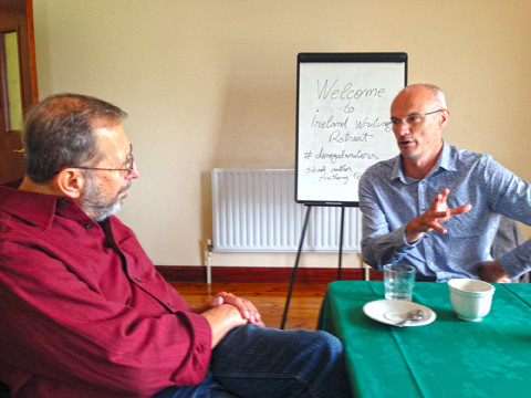 John DeDakis author, Anthony Quinn author, writers speaking at Ireland Writing Retreat
