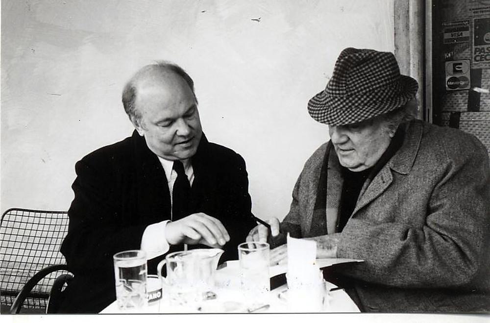 John Baxter and Frederico Fellini, paris writers retreat
